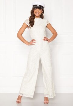 VILA Shayle Capsleeve Jumpsuit Cloud Dancer Bubbleroom.fi