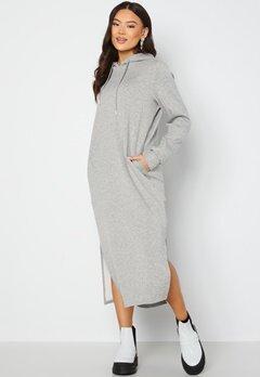 VILA Sif L/S Mid Sweat Dress Light Grey Melange Bubbleroom.fi