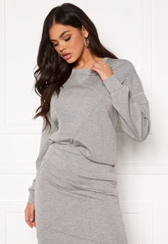 VILA Sif New L/S Top Light Grey Melange Bubbleroom.fi
