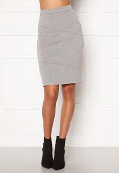 VILA Sif New Pencil Skirt Light Grey Melange Bubbleroom.fi