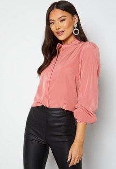VILA Simple L/S Button Shirt Old Rose Bubbleroom.fi