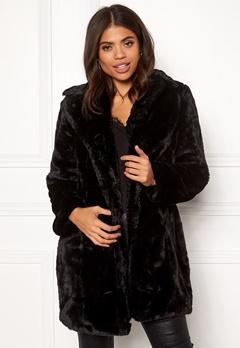 VILA Softa Faux Fur Coat Black Bubbleroom.fi