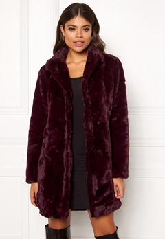 VILA Softa Faux Fur Coat Winetasting Bubbleroom.fi