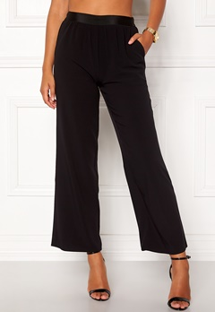 VILA Split Flared Pants Black Bubbleroom.fi