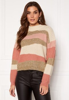 VILA Tianli Knit Glitter Top Misty Rose Bubbleroom.fi