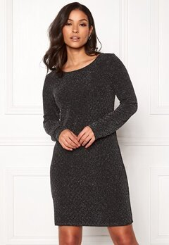 VILA Tinny Luosquare New Dress Black Bubbleroom.fi
