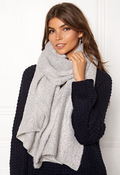 VILA Tobi Knit Scarf Light Grey Melange Bubbleroom.fi