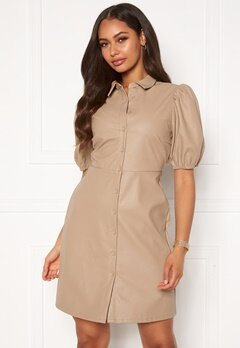 VILA Tura 2/4 Dress Soft Camel Bubbleroom.fi