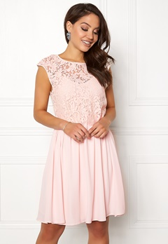 VILA Ulvica S/L Dress Peach Blush Bubbleroom.fi