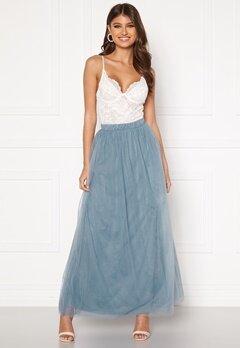 VILA Zamara Hw Maxi Skirt/DC Ashley Blue Bubbleroom.fi