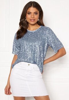 VILA Zamara S/S Top/DC Ashley Blue Bubbleroom.fi
