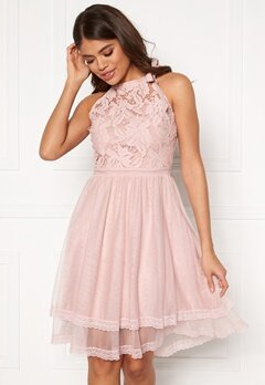 VILA Zinna New S/L Dress Pale Mauve Bubbleroom.fi
