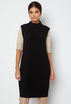 VILA Zuri Cable S/L Knit Vest Dress Black bubbleroom.fi