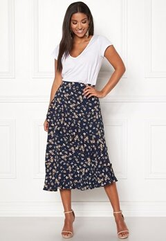 Pieces Viola Midi Skirt Navy Blazer Bubbleroom.fi