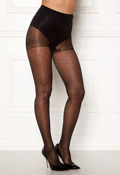 Vogue Swiss Dot Tights 15 Den Black Bubbleroom.fi