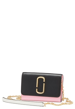 Marc Jacobs Wallet On Chain Black Baby Pink Bubbleroom.fi