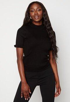 OBJECT Willow S/S Knit Pullover Black Bubbleroom.fi