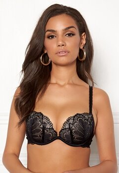 Wonderbra Glamour Full Effect Bra Black Bubbleroom.fi