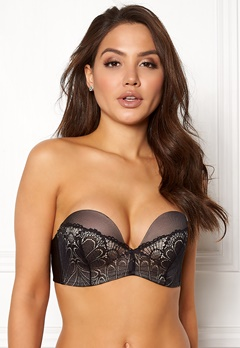 Wonderbra Glamour Perfect Strapless Bra Black Bubbleroom.fi
