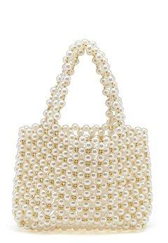 WOS Britney Pearl Bag Vit Bubbleroom.fi