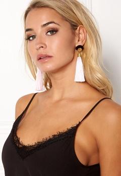 WOS Gloria Tassels Earrings Vaaleanpunainen/musta Bubbleroom.fi