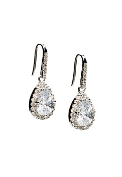 WOS Princess Bling Earrings Silver Bubbleroom.fi