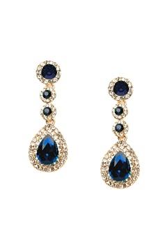 WOS Queen Bling Earrings Blå Bubbleroom.fi