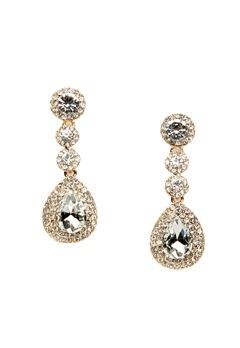 WOS Queen Bling Earrings Vit Bubbleroom.fi