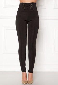 WOW COUTURE Adora Bandage Pants Black Bubbleroom.fi