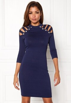 WOW COUTURE Dillon Sweater Dress Navy Bubbleroom.fi