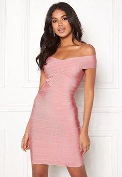 WOW COUTURE Janiyah Bandage Dress Dusty Pink Bubbleroom.fi