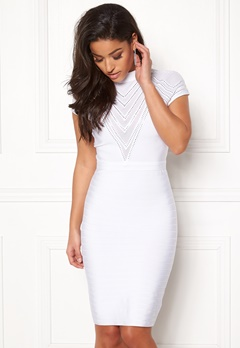 WOW COUTURE Larisa Cap Sleeve Dress White Bubbleroom.fi