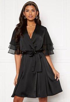 Y.A.S Abigail SS Midi Dress Black Bubbleroom.fi