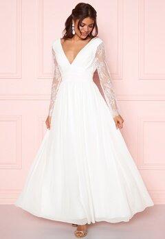 Y.A.S Adela LS Maxi Dress Star White Bubbleroom.fi