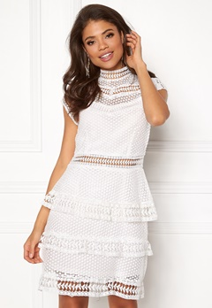 Y.A.S Alberte Capsleeve Lace Dress Star White Bubbleroom.fi