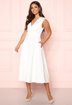 Y.A.S Alice SL Midi Dress Star White Bubbleroom.fi