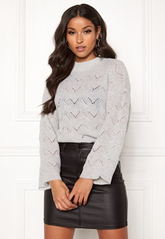 Y.A.S Alma Knit Pullover Light Grey Melange Bubbleroom.fi