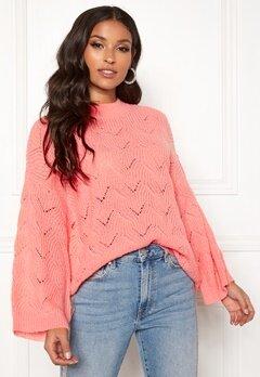 Y.A.S Alma Knit Pullover Quartz Pink Bubbleroom.fi