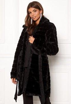 Y.A.S Asala Faux Fur Coat Black Bubbleroom.fi