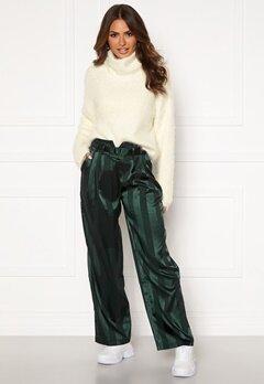 Y.A.S Audrey Wide Pants Green Gambles Bubbleroom.fi
