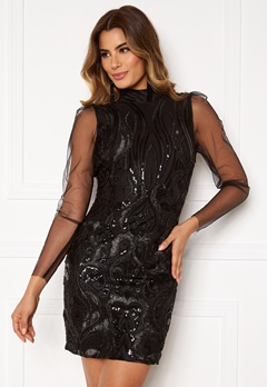Y.A.S Ava LS Dress Black Bubbleroom.fi