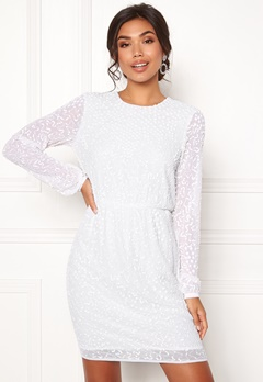 Y.A.S Beada LS Dress Star White Bubbleroom.fi