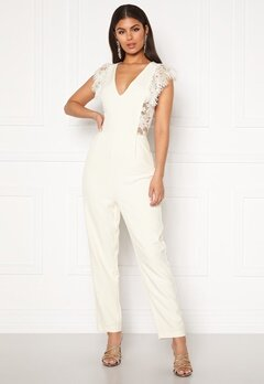 Y.A.S Beatrice SL Ankle Jumpsuit Star White Bubbleroom.fi