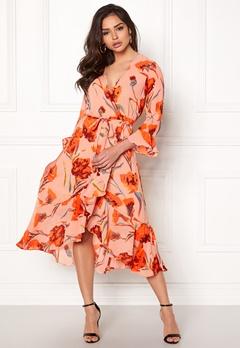 Y.A.S Cacco Wrap Dress Rose Smoke Bubbleroom.fi