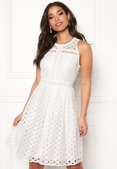 Y.A.S Circle S/L Dress Star White Bubbleroom.fi