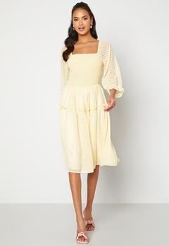 Y.A.S Deanna 3/4 Dress Transparent Yellow Bubbleroom.fi