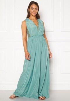 Y.A.S Elena SL Maxi Dress Oil Blue Bubbleroom.fi