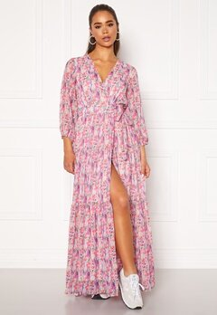 Y.A.S Esmeralda Wrap 3/4 Maxi Dress Cradle Pink Bubbleroom.fi