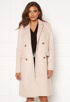 Y.A.S Essa Wool Coat Whisper Pink Bubbleroom.fi
