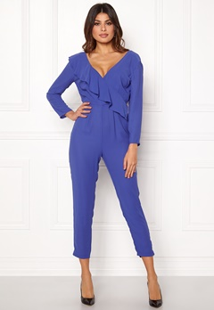 Y.A.S Estrella LS Jumpsuit Royal Blue Bubbleroom.fi